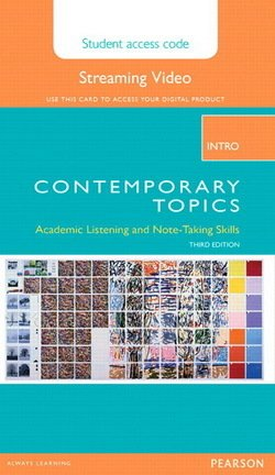 Contemporary Topics (3rd Edition) Intro Streaming Video (Internet Access Code Card) - Jeanette Clement - 9780133962697