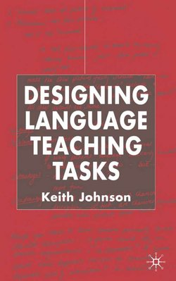 Designing Language Teaching Tasks - Keith Johnson - 9780333984864
