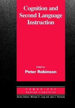 Cognition and Second Language Instruction - Peter Robinson - 9780521003865