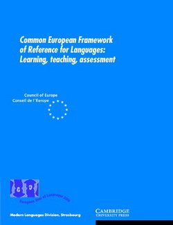 Common European Framework of Reference for Languages - Council of Europe - 9780521005319