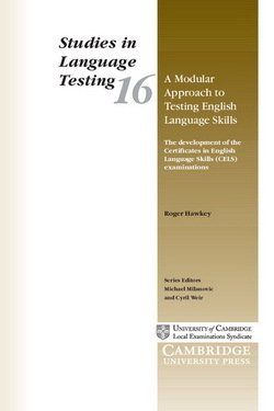 A Modular Approach to Testing English Language Skills (SILT 16) - Roger A. Hawkey - 9780521013321
