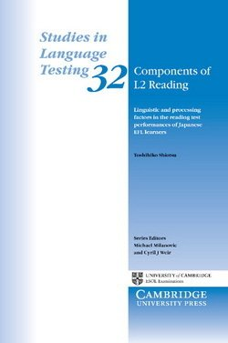 Components of L2 Reading (SILT 32) - Toshihiko Shiotsu - 9780521157278
