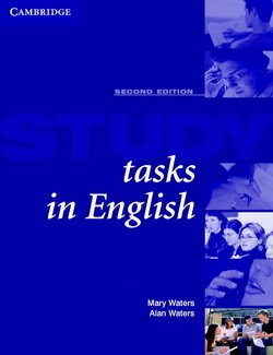 Study Tasks in English Student's Book - Mary Waters - 9780521426145