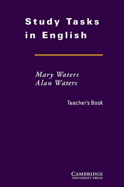 Study Tasks in English Teacher's Book - Mary Waters - 9780521469081