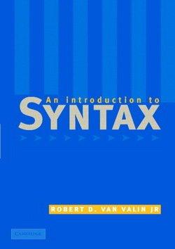 An Introduction to Syntax - Robert D. Van Valin