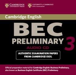 Cambridge BEC Preliminary 3 Audio CD - Cambridge ESOL - 9780521671972