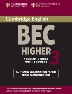 Cambridge BEC Higher 3 Student's Book with Answers - Cambridge ESOL - 9780521672030