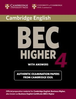 Cambridge BEC Higher 4 Student's Book with Answers - Cambridge ESOL - 9780521739207