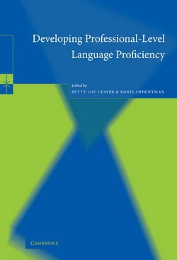 Developing Professional-Level Language Proficiency (Hardback) - Betty Lou Leaver - 9780521816571