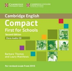 Compact First for Schools (2nd Edition) Class Audio CD - Barbara Thomas - 9781107415744