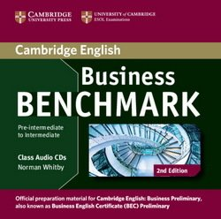 Business Benchmark (2nd Edition) Pre-Intermediate to Intermediate Business Preliminary (BEC) Class Audio CDs (2) - Norman Whitby - 9781107611030