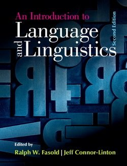 An Introduction to Language and Linguistics - Ralph W. Fasold - 9781107637993