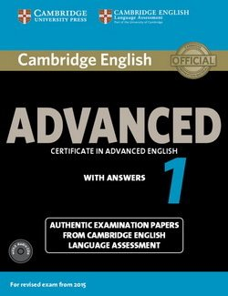 Cambridge English: Advanced (CAE) 1 Student's Book Pack (Student's Book with Answers & Audio CDs (2)) -  - 9781107654969
