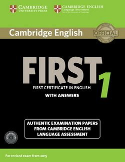 Cambridge English: First (FCE) 1 Student's Book Pack (Student's Book with Answers & Audio CDs (2)) -  - 9781107663312