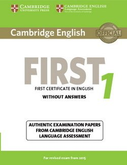 Cambridge English: First (FCE) 1 Student's Book without Answers -  - 9781107668577