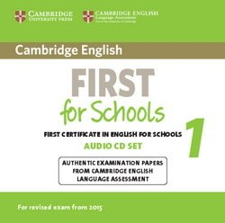 Cambridge English: First (FCE4S) for Schools 1 Audio CDs (2) -  - 9781107669079