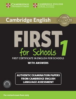 Cambridge English: First (FCE4S) for Schools 1 Student's Book Pack (Student's Book with Answers & Audio CDs (2)) -  - 9781107672093