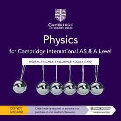 Cambridge International AS & A Level Physics (3rd Edition) Digital Teacher's Resource (Internet Access Card) - Graham Jones - 9781108796750