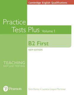 Cambridge English: First (FCE) Practice Tests Plus 1 (New Edition) Student's Book without Key with Online Audio - Nick Kenny - 9781292208749