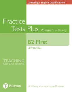 Cambridge English: First (FCE) Practice Tests Plus 1 (New Edition) Student's Book with Key & Online Audio - Nick Kenny - 9781292208756
