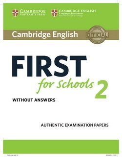 Cambridge English: First (FCE4S) for Schools 2 Student's Book without Answers -  - 9781316503515