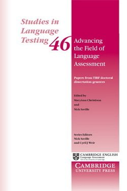 Advancing the Field of Language Assessment (SILT 46) - MaryAnn Christison - 9781316634486