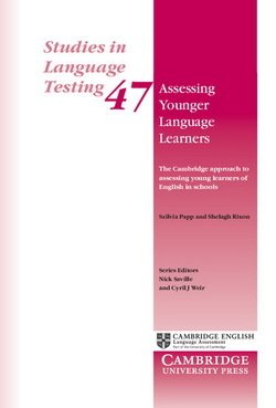 Assessing Younger Language Learners (SILT 47) - Szilvia Papp - 9781316638200
