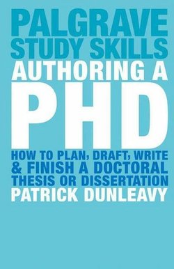 Authoring a PhD; How to Plan