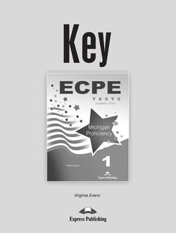 ECPE 1 Tests for the Michigan Proficiency Answer Key -  - 9781471502170