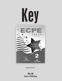 ECPE 2 Tests for the Michigan Proficiency Answer Key -  - 9781471502194