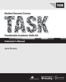 Transferable Academic Skills Kit (TASK) (American Edition) (New Edition) Instructor's Manual -  - 9781782602941