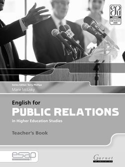 English for Public Relations in Higher Education Studies Teacher's Book - Marie McLisky - 9781859645338