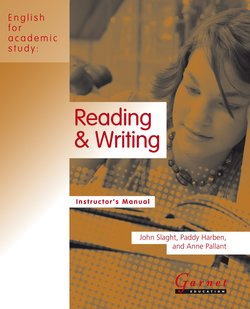 English for Academic Study (American Edition) Reading & Writing Teacher's Book - John Slaght - 9781859645741