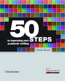 50 Fifty Steps to Improving your Academic Writing - Chris Sowton - 9781859646557