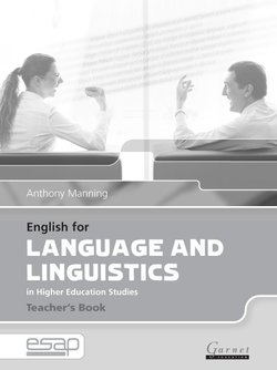 English for Language and Linguistics in Higher Education Studies Teacher's Book - Anthony Manning - 9781859649466