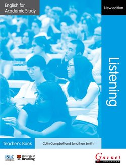 English for Academic Study (New Edition): Listening Teacher's Book -  - 9781908614346