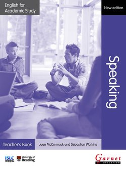 English for Academic Study (New Edition): Speaking Teacher's Book -  - 9781908614421