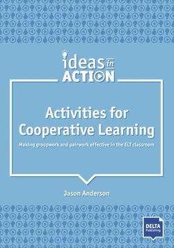Activities for Cooperative Learning: Making Groupwork and Pairwork Effective in the ELT Classroom - Jason  Anderson - 9783125017344