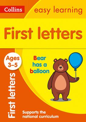 First Letters Ages 3-5 (Collins Easy Learning Preschool) - Collins Easy Learning - 9780008387884