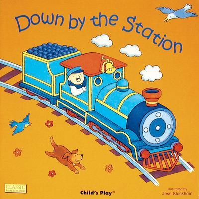 Classic Books with Holes Board Book: Down by the Station - Jess Stockham - 9780859531405