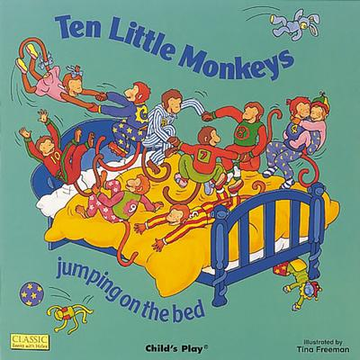 Classic Books with Holes Board Book: Ten Little Monkeys Jumping on the Bed - Tina Freeman - 9780859537988