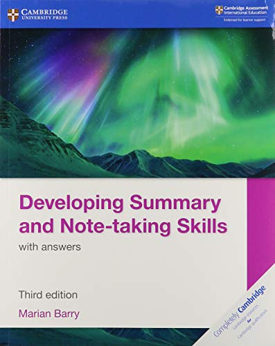 Developing Summary and Note-taking Skills with answers - Marian Barry - 9781108811330