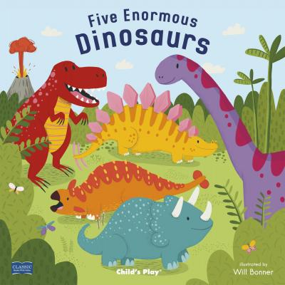 Classic Books with Holes Board Book: Five Enormous Dinosaurs - Will Bonner - 9781786282187