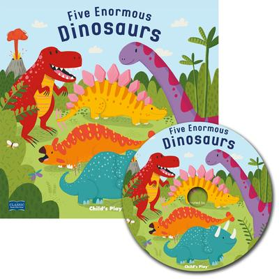 Classic Books with Holes Soft Cover with CD: Five Enormous Dinosaurs - Will Bonner - 9781786283696