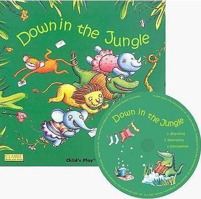 Classic Books with Holes Soft Cover with CD: Down in the Jungle - Elisa Squillace - 9781846431340
