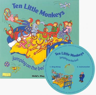 Classic Books with Holes Soft Cover with CD: Ten Little Monkeys - Tina Freeman - 9781846433863