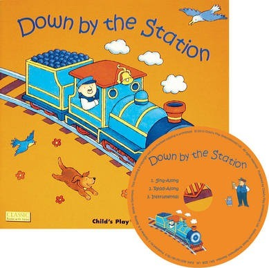 Classic Books with Holes Soft Cover with CD: Down by the Station - Jess Stockham - 9781846433870