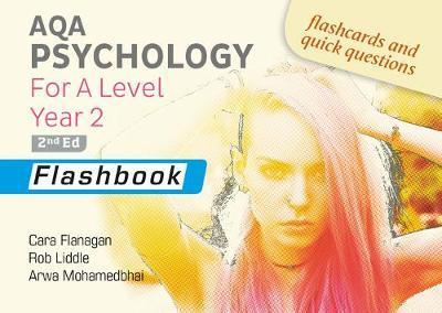 AQA Psychology for A Level Year 2 Flashbook: 2nd Edition - Cara Flanagan - 9781912820481