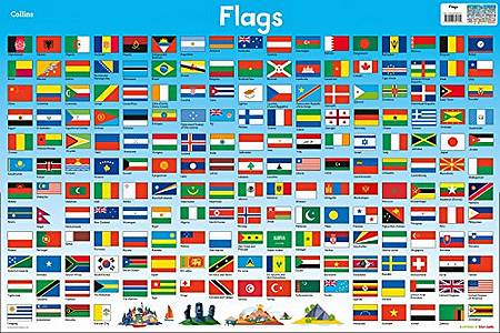 Collins Children's Poster: Flags - Steve Evans - 9780008304799