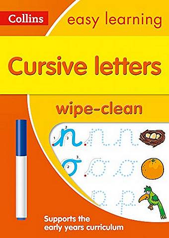Cursive Letters Age 3-5 Wipe Clean Activity Book: Prepare for Preschool with easy home learning (Collins Easy Learning Preschool) - Collins Easy Learning - 9780008335830
